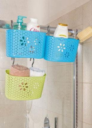 Plastové závěsné košíky do sprchy