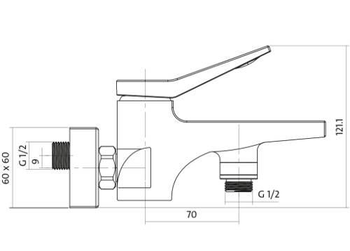 Kompletní rozměry vanové baterie