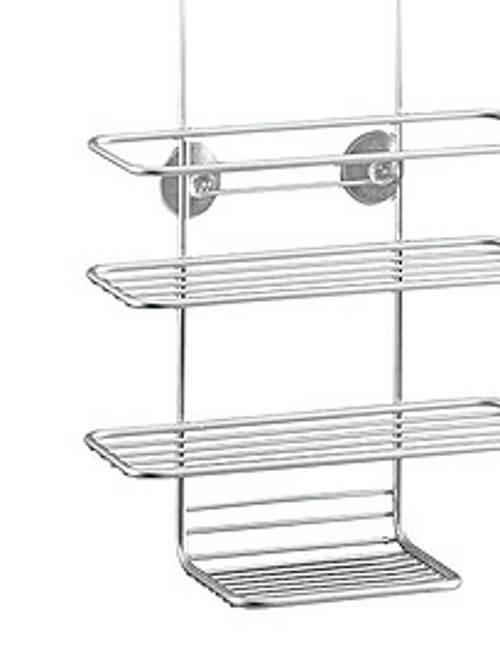 Třípatrová drátěná polička do sprchového koutu