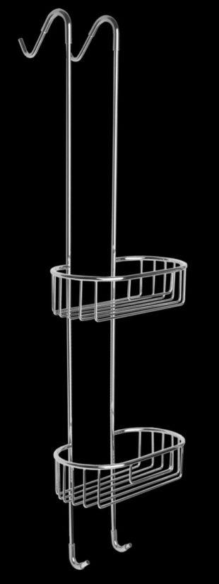 Dvoupatrová závěsná drátěná polička do sprchového koutu