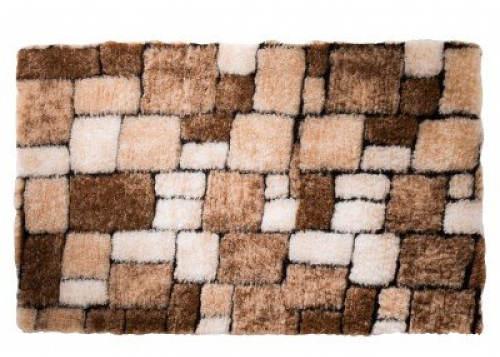 Hnědá mozaiková koupelnová předložka