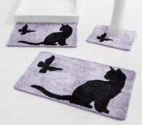 Koupelnová předložka Kočka a motýl