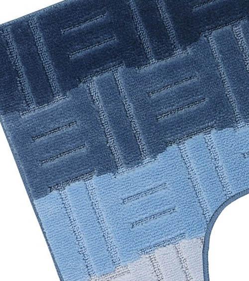Modrá duhová záchodová předložka