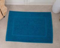 Obdelníková modrá koupelnová předložka 50x70 cm