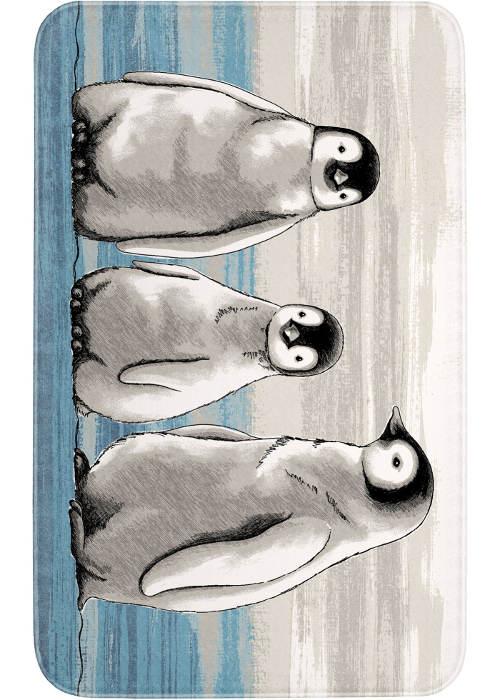 Předložka s tučňáky před sprchový kout