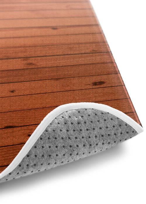 Protiskluzová koupelnová předložka drevěný motiv