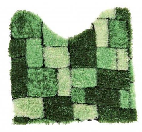 Zelená mozaiková předložka k WC