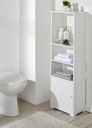 Koupelnová skříňka se 3 otevřenými přihrádkami a s jednou zavřenou