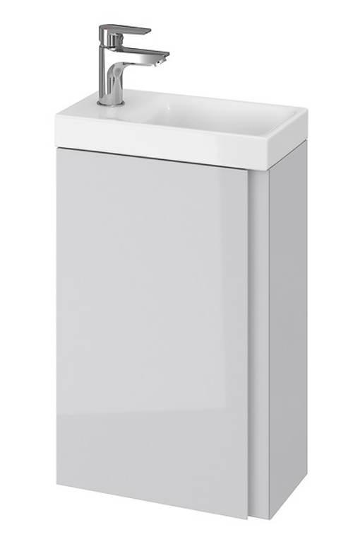 Minimalistická šedá skříňka pod umyvadlo