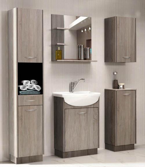 Sestava koupelnového nábytku dub sonoma truflový