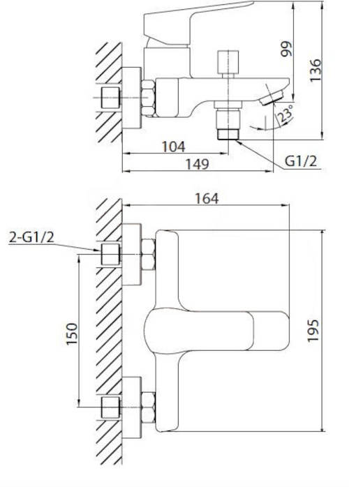 Technický nákres baterie Optima Cube Way