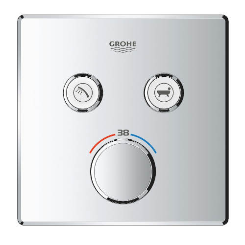 Tlačítková sprchová termostatická baterie