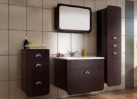 Závěsná koupelnová sestava Dron wenge