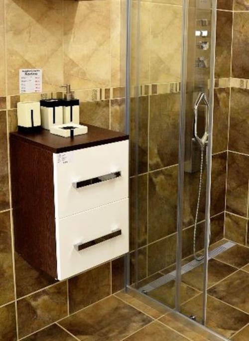 Koupelnová skříňka wenge/bílá