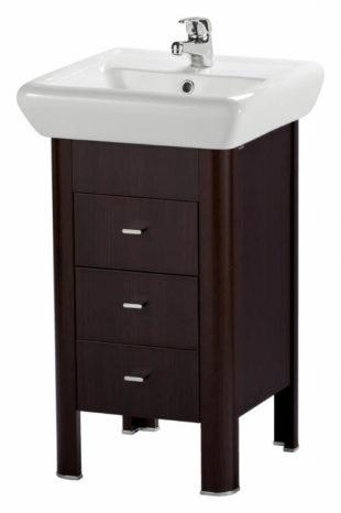 Malá koupelnová skříňka pod umyvadlo - tmavé dřevo
