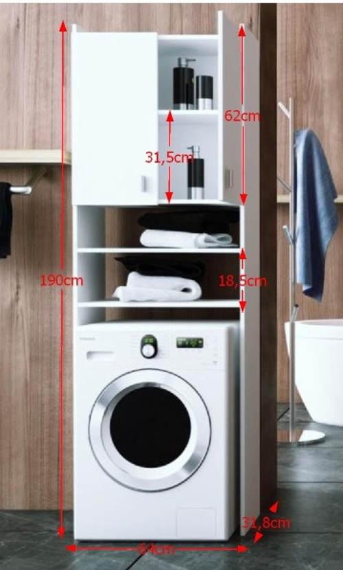 Rozměry skříňky na pračku