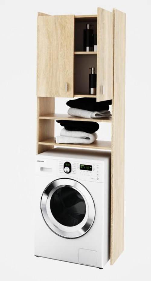 Skříňka nad pračku dub sonoma