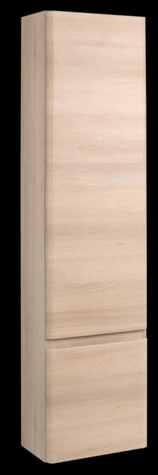 Vysoká skříňka do koupelny dřevodekor akácie