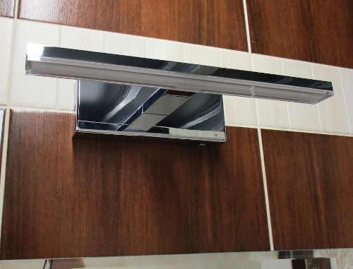Koupelnové zrcadlo s instalací do obkladu