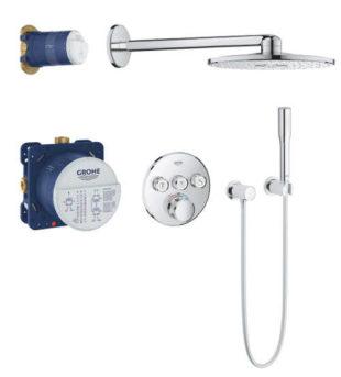 Podomítkový sprchový set s termostatickou baterií