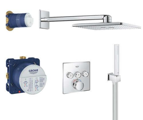 Zlevněný podomítkový termostatický set do sprchy Grohe SmartControl