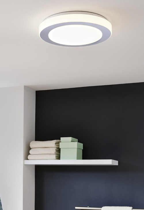 Kruhové stropní světlo do koupelny