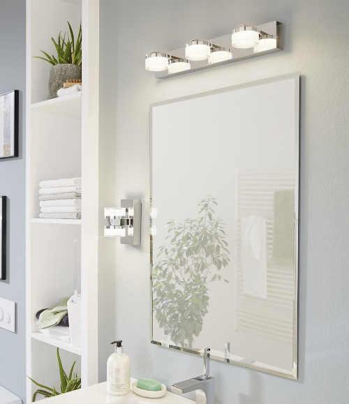 Světlo nad zrcadlo do romantické koupelny