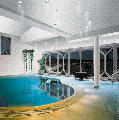 Zápustné světlo k bazénu