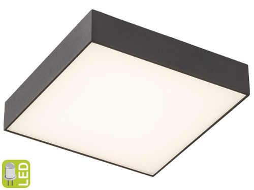 Černé čtvercové stropní svítidlo s LED driverem uvnitř
