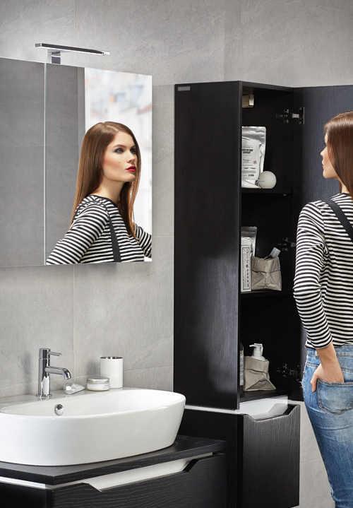 Minimalistické koupelnové světlo nad zrcadlo