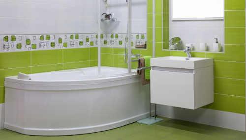 Skříňka s umyvadlem do zelené koupelny