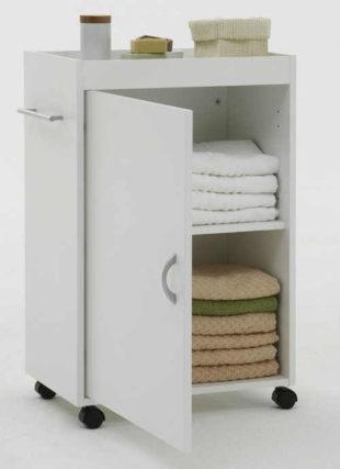 Malá koupelnová skříňka na kolečkách