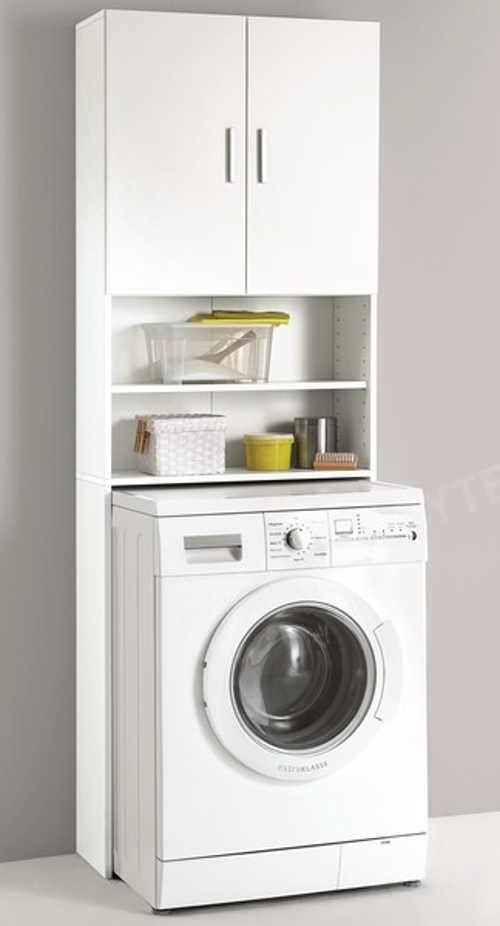 Bílá koupelnová skříňka nad pračku