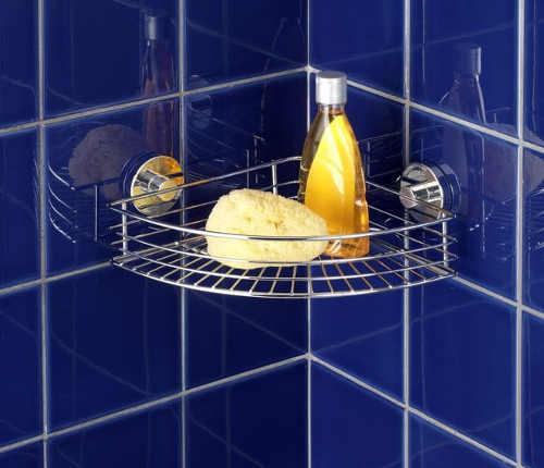 Drátěná polička do sprchového koutu bez vrtání
