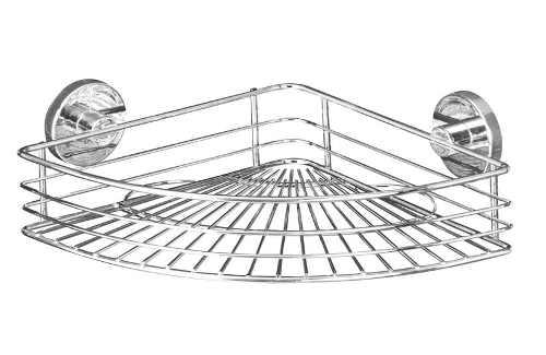 Drátěná rohová polička uchycení na kachličky