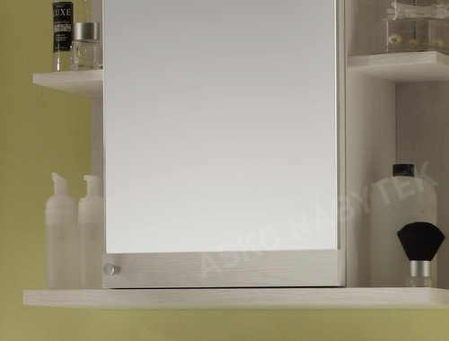 Dřevěná závěsná koupelnová skříňka se zrcadlem