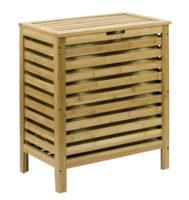 Dřevěný koupelnový koš na prádlo