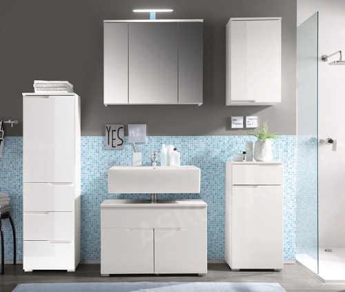 Koupelnová nábytková sestava bílý lesk