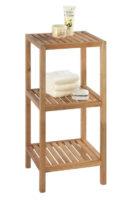 Koupelnový regál Bonami z ořechového dřeva se 2 policemi