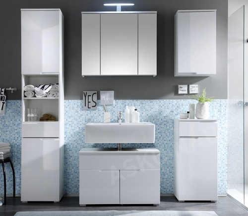 Univerzální koupelnový nábytek bílý lesk
