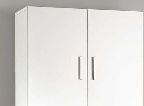 Vysoká bílá skříň do koupelny