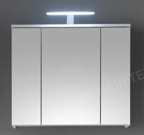 Zrcadlová koupelnová skříňka nad umyvadlo s LED osvětlením