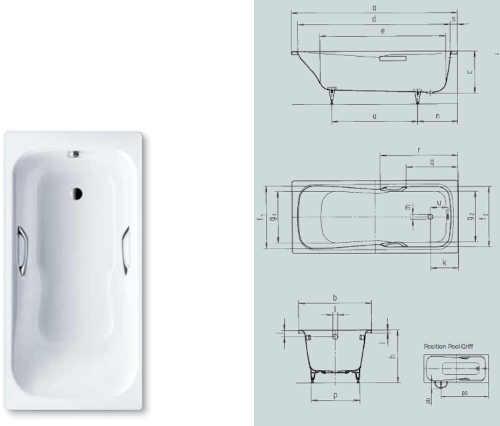 Smaltová vana do koupelny odolná proti poškození