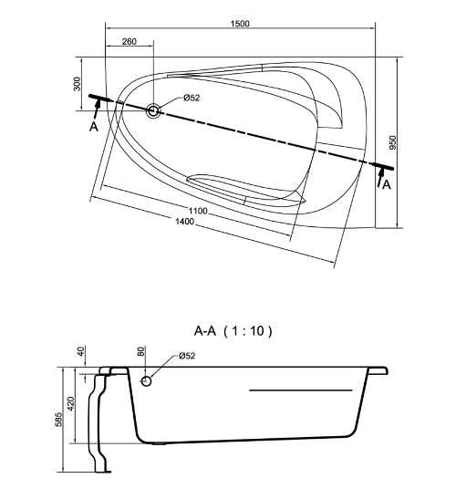 Asymetrická rohová vana do menší koupelnyAsymetrická rohová vana do menší koupelny