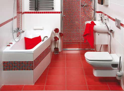 Asymetrická vana do úzké koupelny