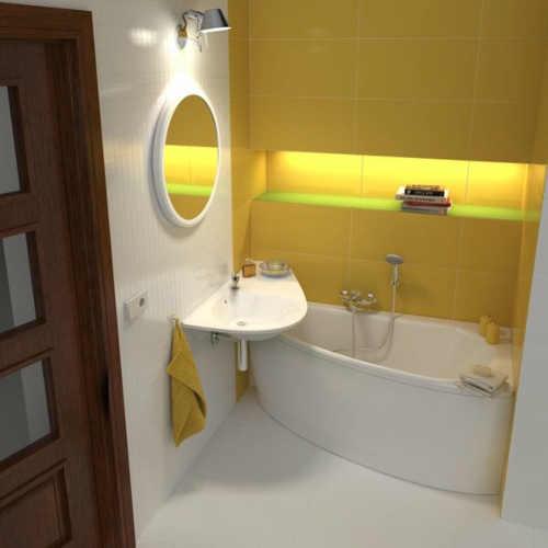 Moderní malá paneláková koupelna inspirace