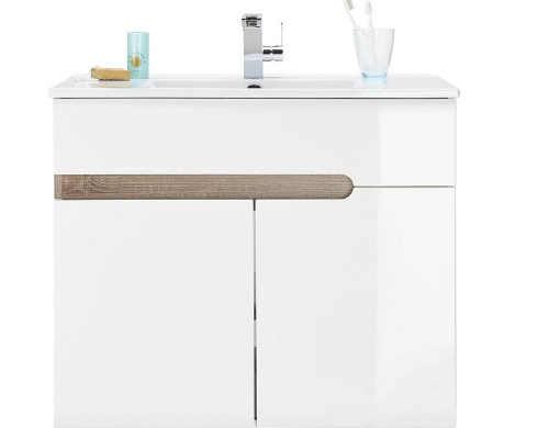 Koupelnová skříňka s keramickým umyvadlem
