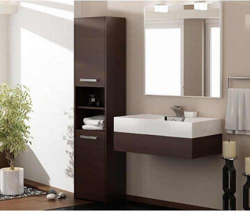 Koupelnová skříňka s otevřeným a uzavřeným prostorem