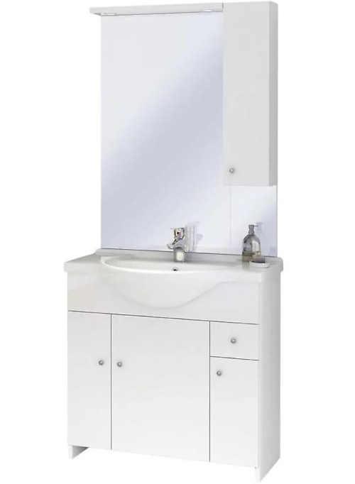 Koupelnový set s umyvadlem v bílém provedení