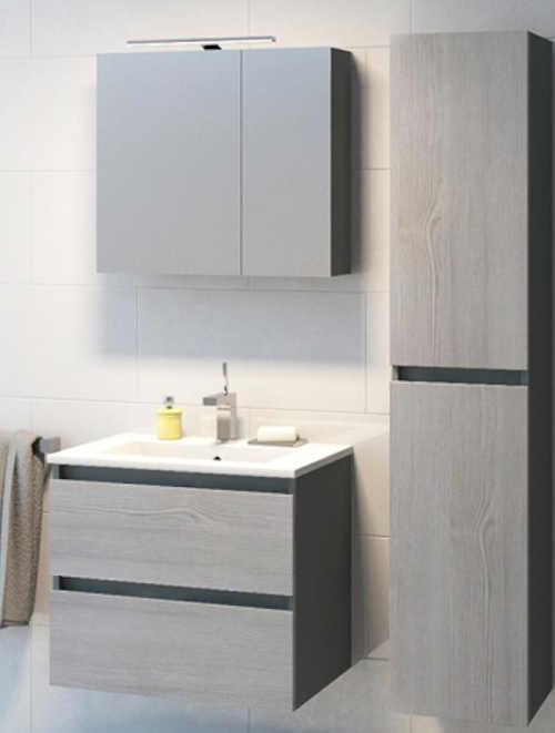 Koupelnový set tvořen závěsnou skříňkou a umyvadlem